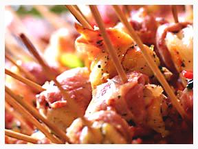 4 shrimp skewer